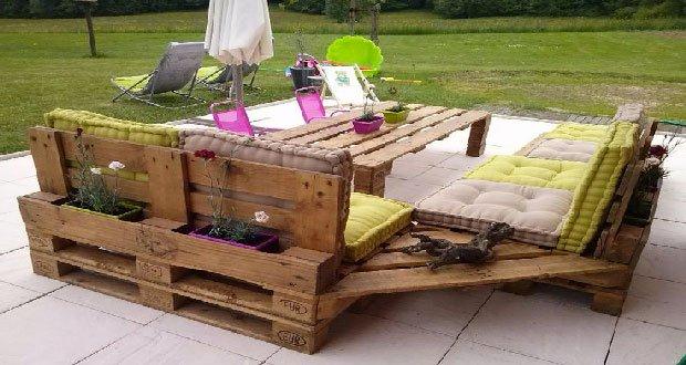 Salon de jardin en palette image