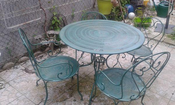 Emejing Table De Jardin Fer Forge Noir Ideas - House Design ...