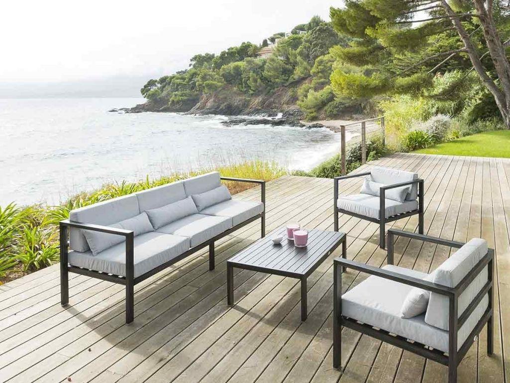 Salon de jardin aluminium jardiland - Mobilier de jardin et terasse