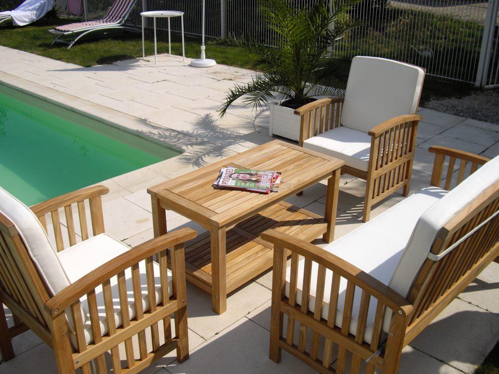 Promo salon de jardin en teck mobilier de jardin et terasse - Salon jardin hesperide discount ...