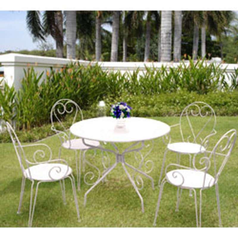 salon de jardin metal romance mobilier de jardin et terasse. Black Bedroom Furniture Sets. Home Design Ideas