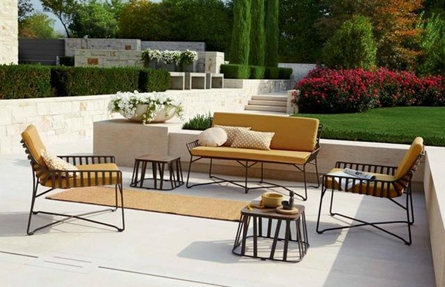 Salon de jardin aluminium moderne