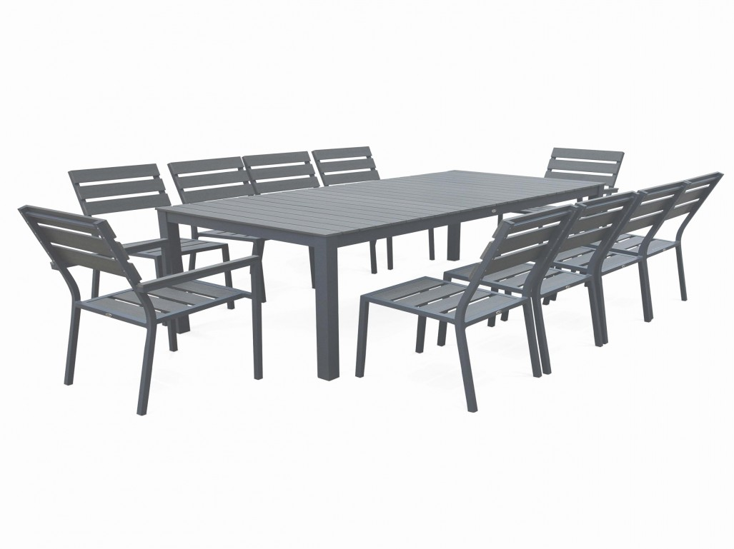 Salon de jardin en aluminium majestic table carrée - Mobilier de ...