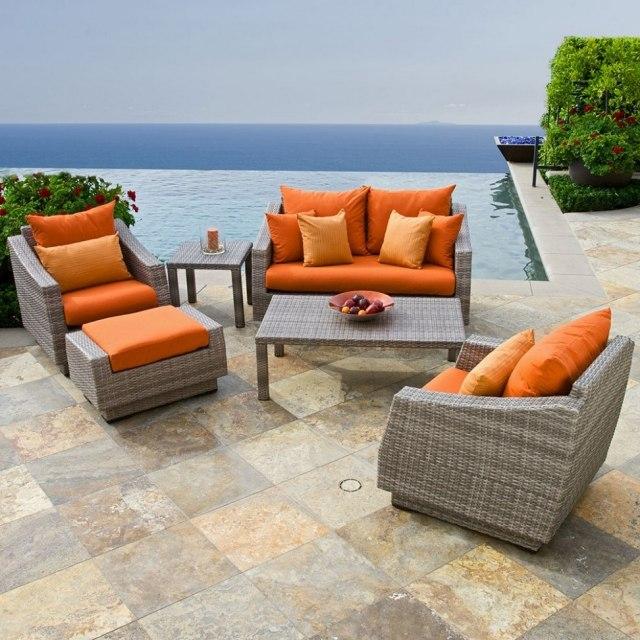 Salon de jardin orange - Mobilier de jardin et terasse