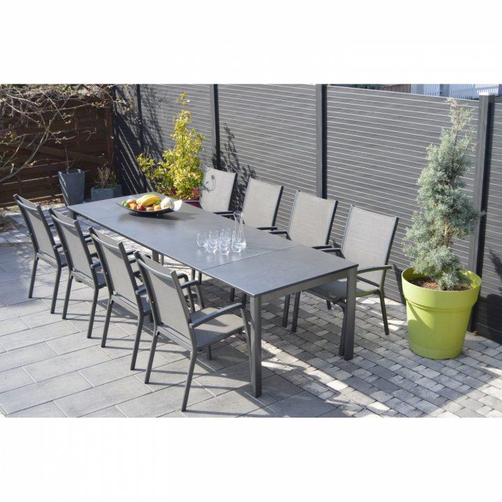 Salon de jardin alu rallonge - Mobilier de jardin et terasse