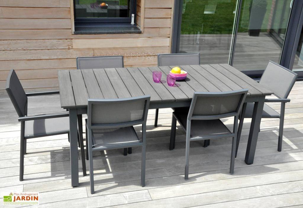 Salon de jardin alu composite avec rallonge - Mobilier de jardin et ...