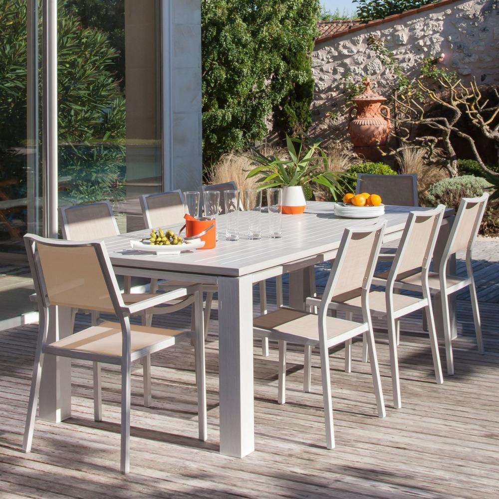 Salon de jardin ice proloisirs en aluminium - Mobilier de jardin et ...