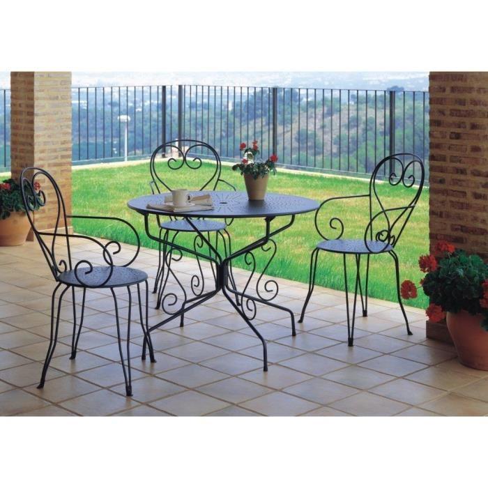 Salon de jardin métal romantique