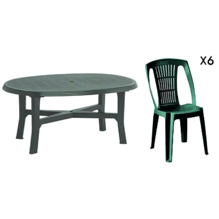 salon de jardin 6 chaises plastique mobilier de jardin. Black Bedroom Furniture Sets. Home Design Ideas