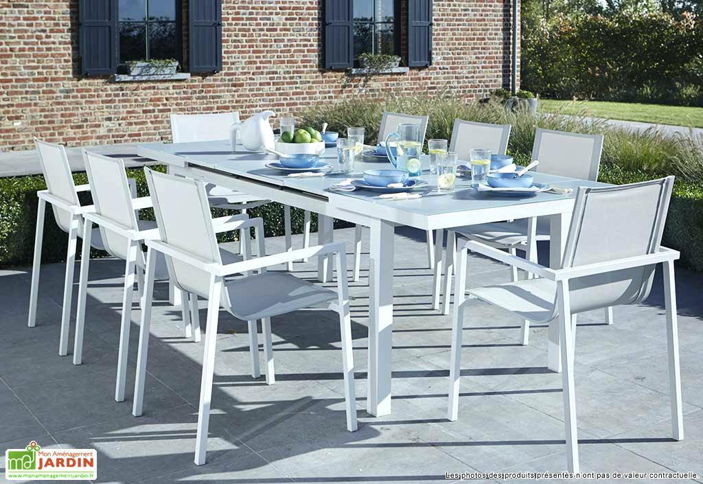 Table de salon de jardin aluminium