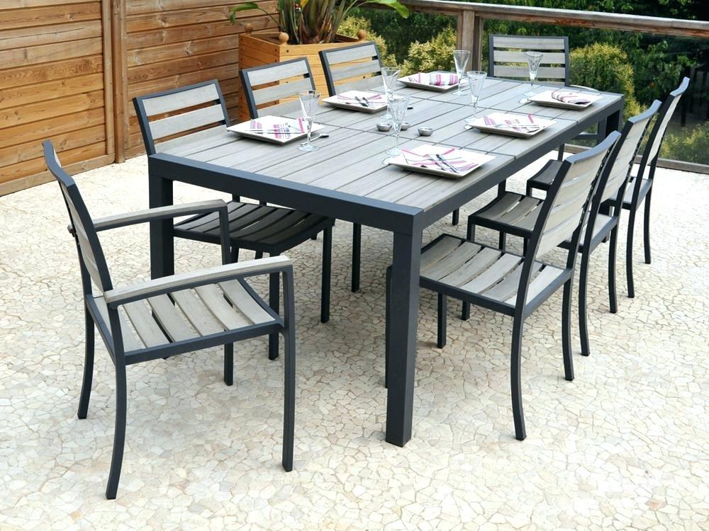 Salon de jardin aluminium et bois composite aloha
