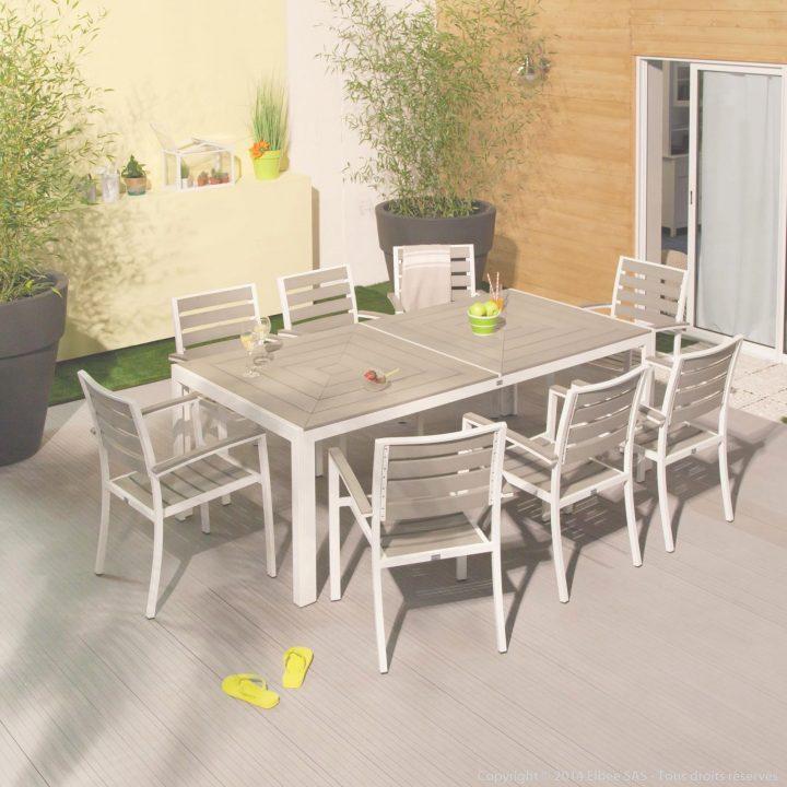 Beautiful Table De Jardin Aluminium Boston Images - House ...