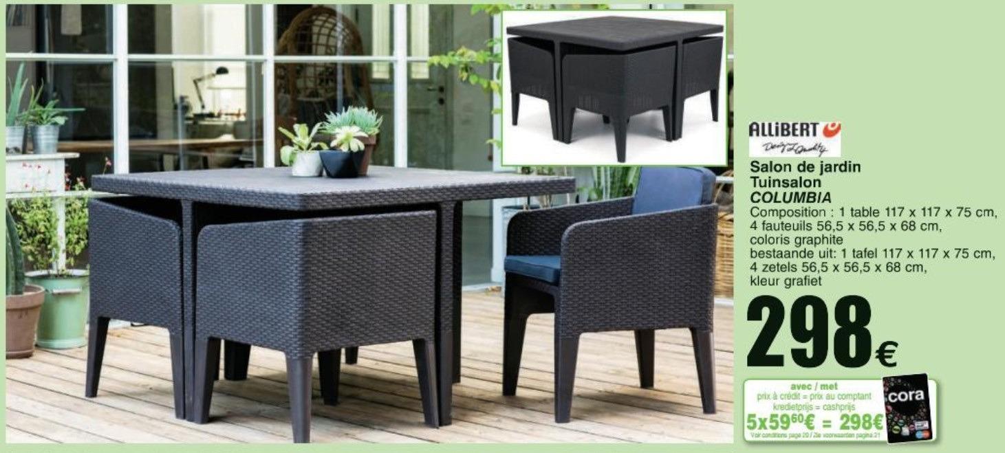 salon de jardin promo cora mobilier de jardin et terasse. Black Bedroom Furniture Sets. Home Design Ideas