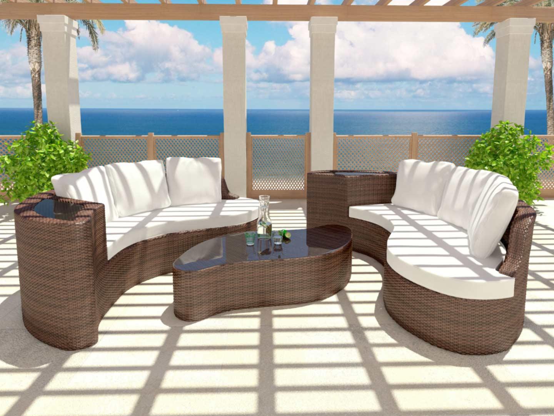 salon de jardin aluminium haut de gamme mobilier de. Black Bedroom Furniture Sets. Home Design Ideas
